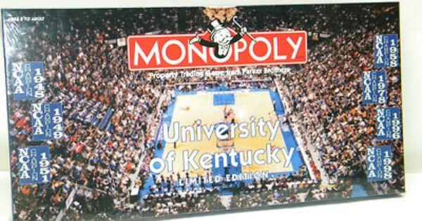 Uk Basketball: UNIVERSITY OF KENTUCKY Monopoly Board Game