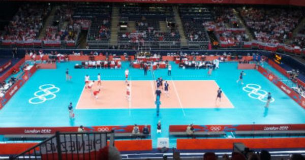 Love The Colors Of The Volleyball Venue Volleyball Not So Much Sport Event Olympic Volleyball Olympic Games