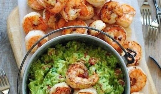 Cajun Shrimp Guacamole healthy dinner