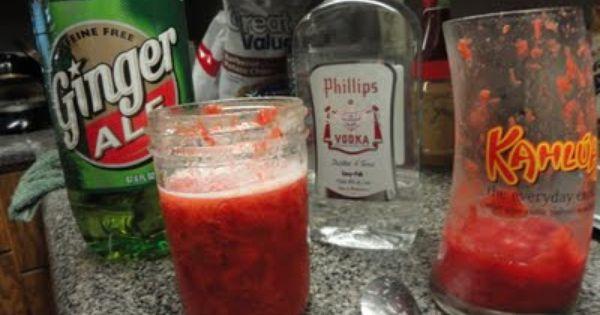 Strawberry Rhubarb Slush. | Happy Hour | Pinterest | Strawberries ...
