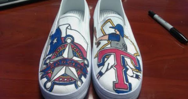 Texas Rangers shoes I WANT!