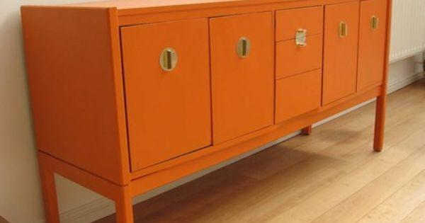 Beautiful Orange So Unique Love Painting Kitchen Cabinets