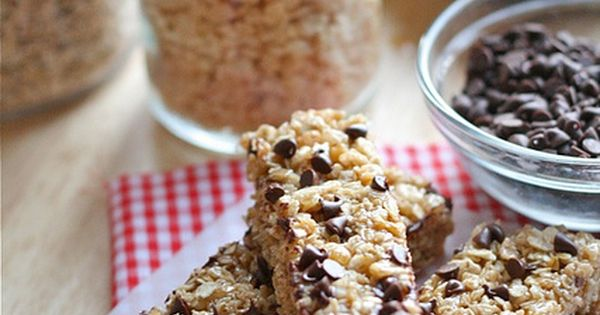 Home made No-Bake Chocolate Chip Granola Bars