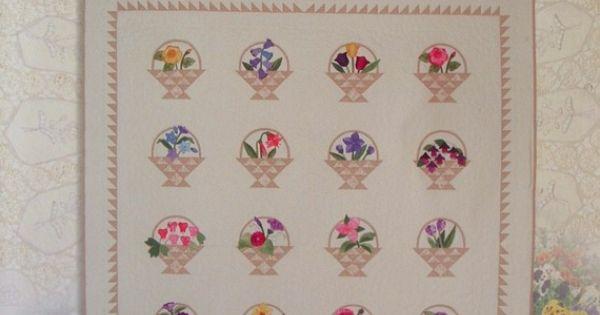 Flower Basket Quilt Block Grandmother S Garden Quilt