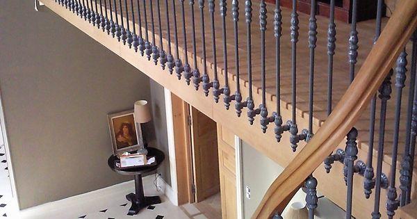 Escalier de prestige en bois et fer forg r novation d 39 un for Renovation cage escalier maison