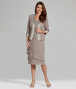 2 Piece Mother Of Bride Or Any Occasions Suit Dress And Jacket Set