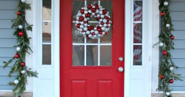 Front Door Decorations With Wreaths And Garland Christmas