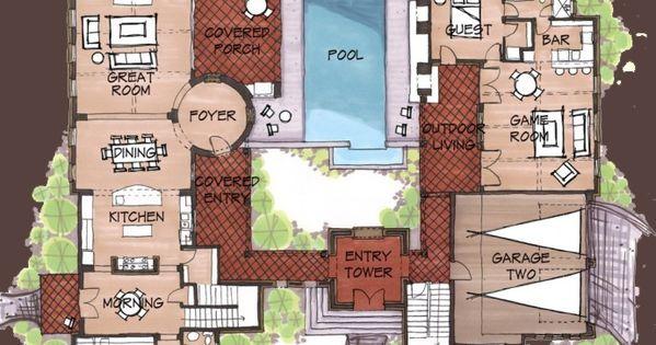 Hacienda Style Homes Spanish Hacienda Floor Plans