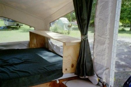 Bed Storage For A Tent Trailer Tent Trailer Tent Camping Beds