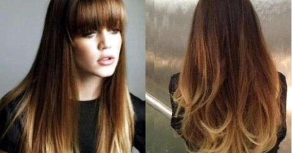 khloe kardashian - ombre hair color