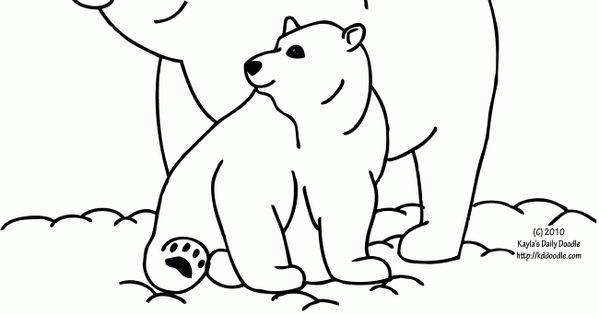 google polar bear coloring pages - photo#4