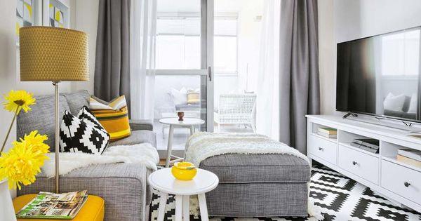 Salones peque os que parecen grandes muebles de - Salones pequenos ikea ...