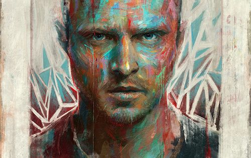 """Bitch"" - Portrait of Aaron Paul / Jesse Pinkman by Sam Spratt"