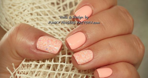 Nails Art: Gelish Salmon Pink Nails With Konad Stamping By Www
