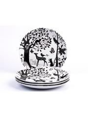 12 Piece Enchanted Forest Dinner Set Home George Animal Plates Enchanted Forest Party Dinner Plates