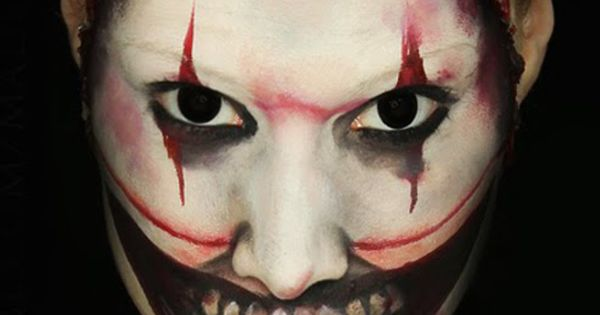 MadeYewLook has perfected the scary look of Twisty of the Clown from