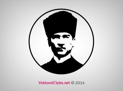 Ataturk Silueti Vektorel Google Da Ara Cizim Resim Sablon Baski