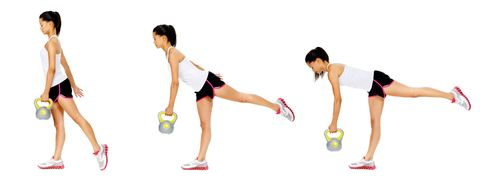 Single Leg Kettlebell Deadlift - that's coach Allison's favorite ...