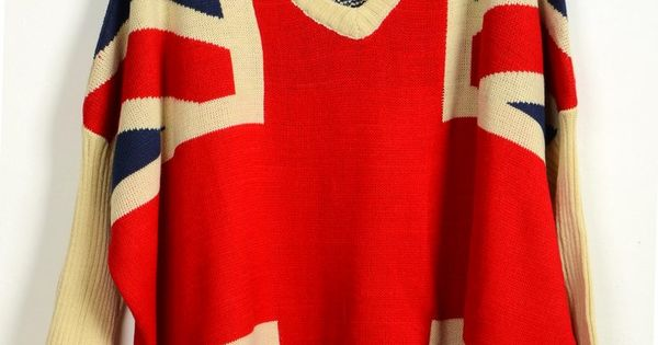 Ladies Classic Bat Sleeves British Flag Sweaters Jumpers