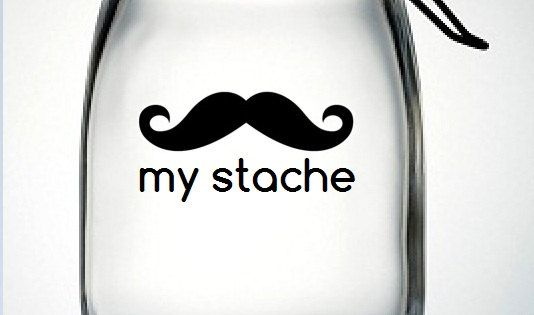 """my stache"" jar to save up money! (Christmas gift idea)"