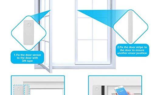 Npl Smart Wifi Door Sensor Wireless Garden Window Security Magnet Sensor With Easy App For Home Garage Farm Garden Off Garden Office Window Security Smart Wifi