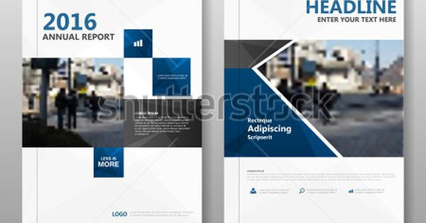 Blue Black Elegance Vector Annual Report Leaflet Brochure