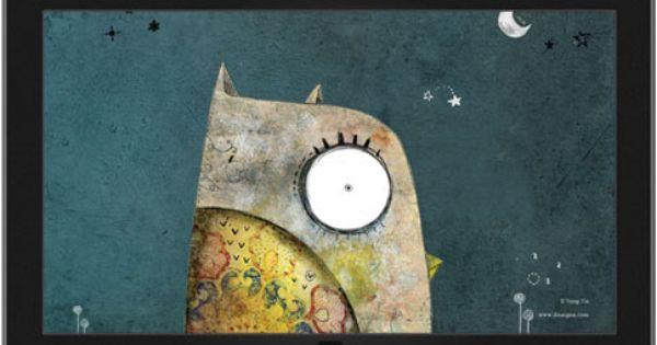 A Book Of Sleep Theme Microsoft Windows Owl Art Print Owl Wallpaper Theme