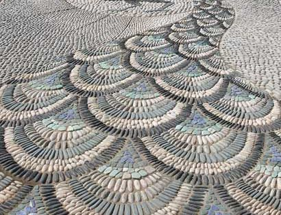 pebble mosaic | Peacock mosaic from the Victorian Aviary Garden - Chelsea
