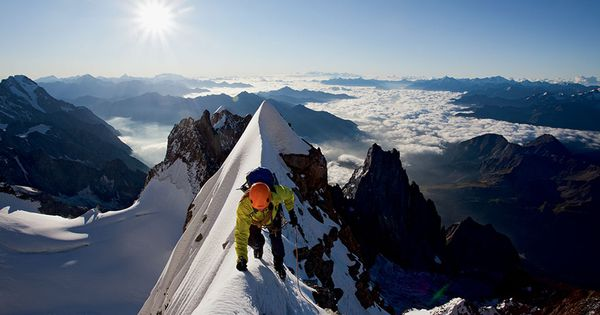 High Art - a far-scape on south face of Mont Blanc photo: