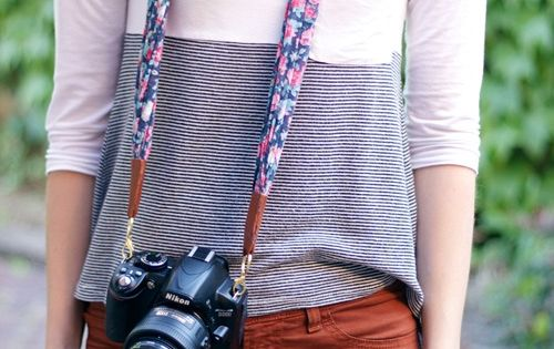 The House That Lars Built.: DIY Summer Scarf Camera Strap. Gift idea!
