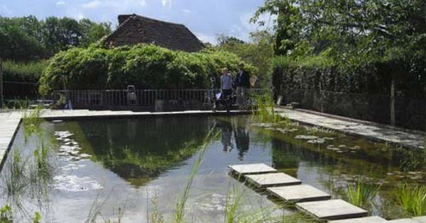 Natural Swimming Pool Design By Gartenart Kent UK