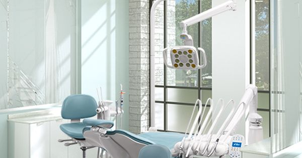 A Dec 500 Dental Chair With Cyan Sewn Upholstery Design
