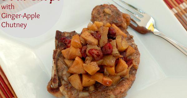 Crock Pot Pork Chops with Ginger-Apple Chutney | Crock Pot Pork Chops ...