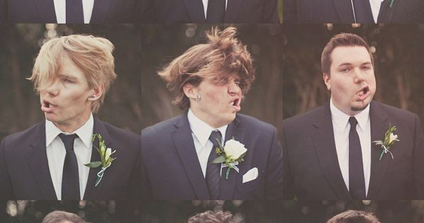 Some very goofy photos of the groomsmen. | 42 Impossibly Fun Wedding