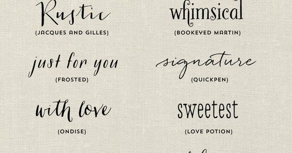Sweet Tattoo font Favorites - Handwritten Fonts by Elegance and Enchantment