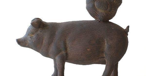 置物 オブジェ おしゃれ かわいい 可愛い アンティーク レトロ ぶた ブタ 豚 にわとり ニワトリ 鶏 アニマル 動物 インテリア 雑貨 仲良しファームのオブジェ Toy1425 2021 動物 ブタ かわいい