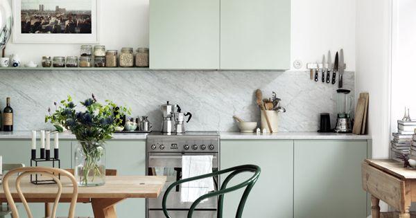 Mint green kitchen. kitchen design kitchen interior design kitchen decorating kitchen designs