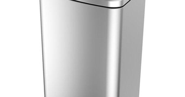 Kitchen Trash Bin Target: 40 Liter Rectangle Stainless Steel Trash Can