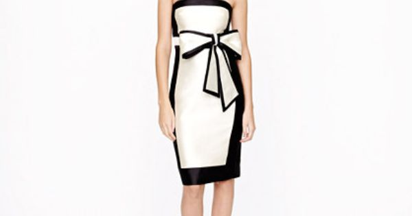 J Crew Collection framed bow dress