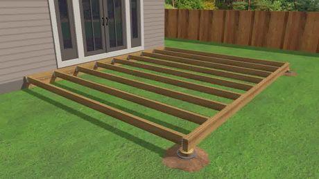 Eine Terrasse Aus Holz Bauen Wooden Terrace Building A