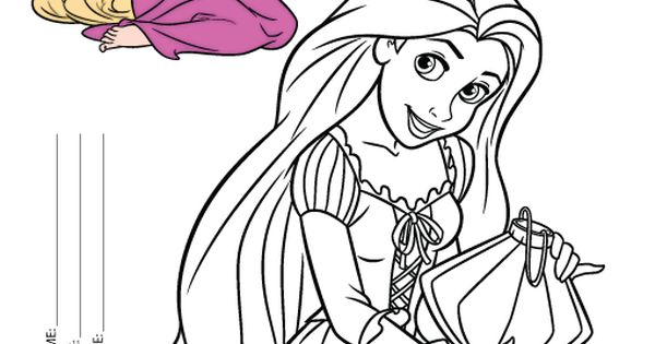 Easy Rapunzel Coloring Pages to Print   In   Pinterest ...