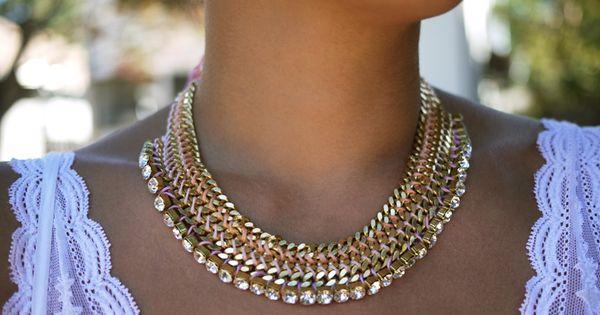 DIY Tutorial : Woven Chain Collar Necklace