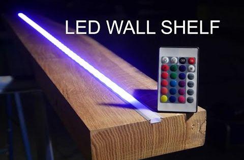 Designer Led Regal Anleitung Youtube Led Shelf Lighting Hidden Lighting Diy Wood Shelves