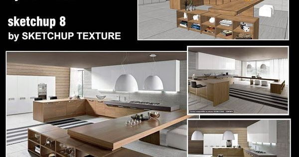 Sketchup texture free sketchup 3d model kitchen design for Cuisine 3d sketchup