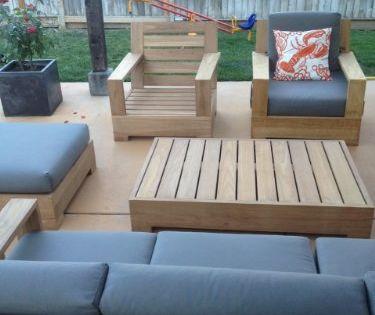 Sunbrella Fabric Cushions Seat Back For 2 Lounge Chairs Ottoman Cushions Only Seats Cu Teak Outdoor Furniture Patio Furnishings Patio Furniture Chairs
