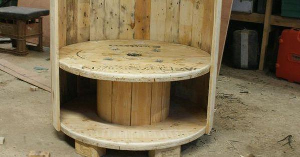 id es d co bobine de r cup c ble livre et chaises. Black Bedroom Furniture Sets. Home Design Ideas