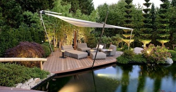 gestaltungsideen garten landschaftsbau terrasse lounge teich garden landscape pinterest. Black Bedroom Furniture Sets. Home Design Ideas