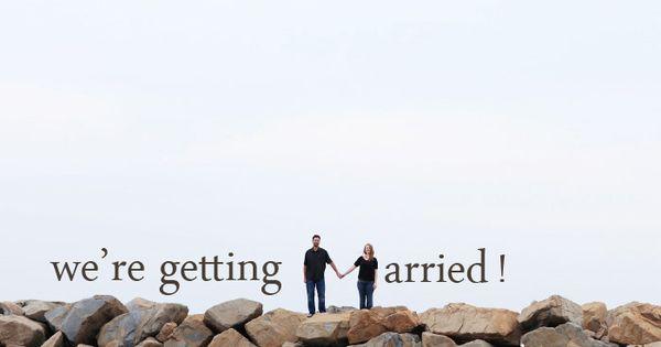 Cute engagement announcement.