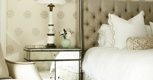 Neutral Palette with a touch of pattern Bed Room bedroom decor BedRoom