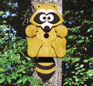 Birdhouse Wood Patterns Raccoon Birdhouse Wood Project Plan Birdhouse Woodworking Plans Wood Projects Plans Bird Houses